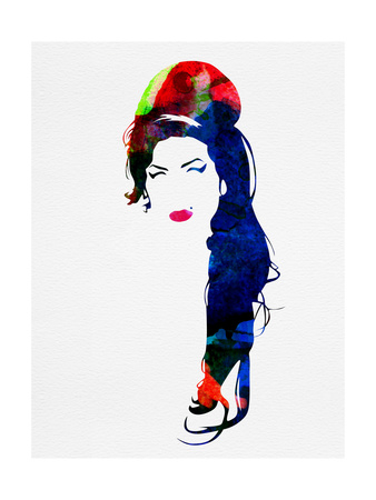 Amy Watercolor Poster von Lora Feldman