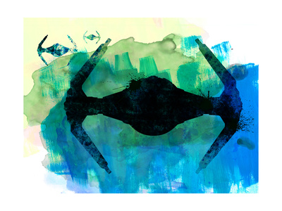 Star Ship Watercolor 3 Kunst von Lora Feldman