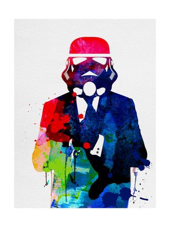Trooper in Suit Watercolor Plakat af Lora Feldman