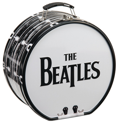 The Beatles Drum Shaped Tin Lunch Box Lunch Box