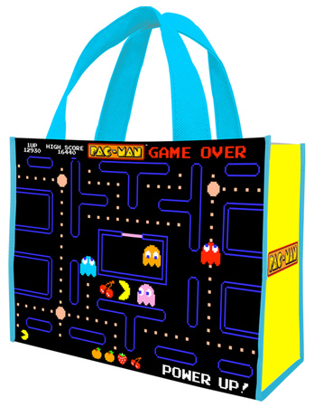 Pac-Man Large Recycled Shopper Tote Bag