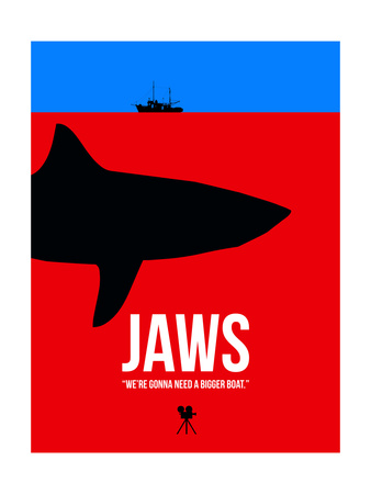 We Need a Bigger Boat Poster by David Brodsky