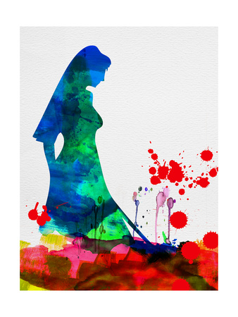 The Bride in Blood Watercolor Prints by Lora Feldman