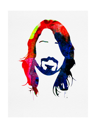 Dave Watercolor Kunstdrucke von Lora Feldman