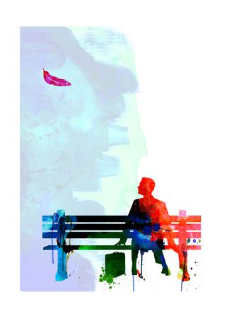 Forrest Watercolor 2 Poster af Lora Feldman