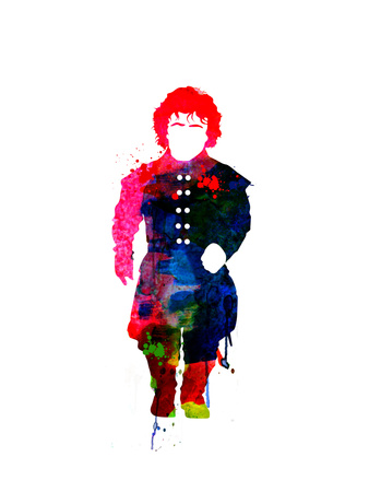 Tyrion Lannister watercolor outline poster - Game of Thrones