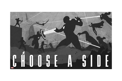 Captain America: Civil War - Captain America Vs Iron Man. Choose a Side Prints