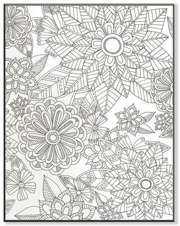 Flower Garden DIY Coloring Wall Plaque Wood Sign