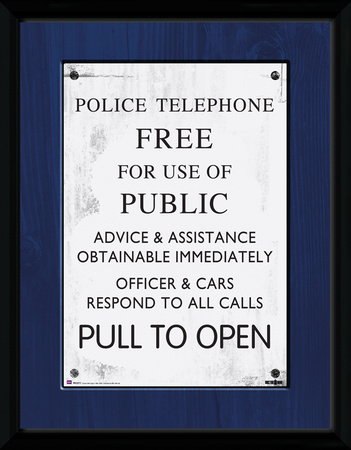 Doctor Who- Tardis Police Sign Collector-tryk