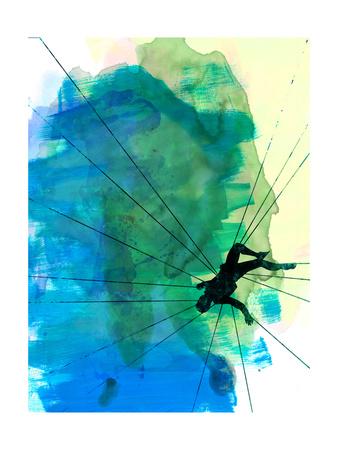Vertigo Watercolor Print by Lora Feldman