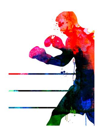 Jake Watercolor Posters by Lora Feldman