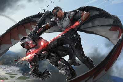 Captain America: Civil War - Falcon and Iron Man Plakater
