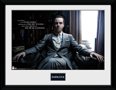 Sherlock- Moriarty Reclining Collector-tryk