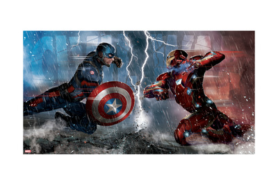Captain America: Civil War - Captain America Vs Iron Man. Choose a Side Láminas
