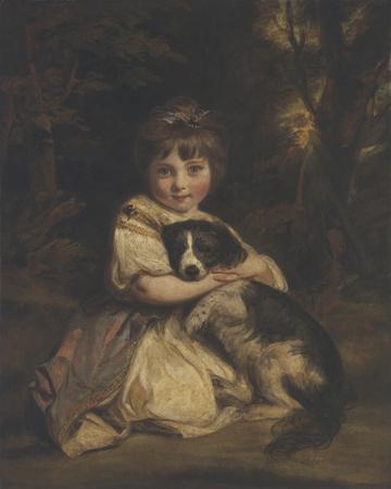 Miss Jane Bowles Giclee Print by Sir Joshua Reynolds