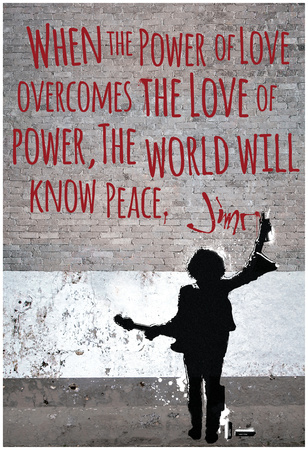 Power Of Love Jimi Wall Plakát