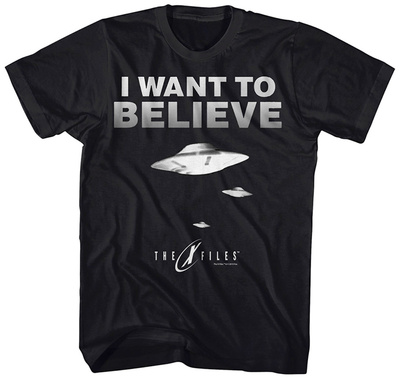 X-Files- Believe 3 Saucers T-shirts