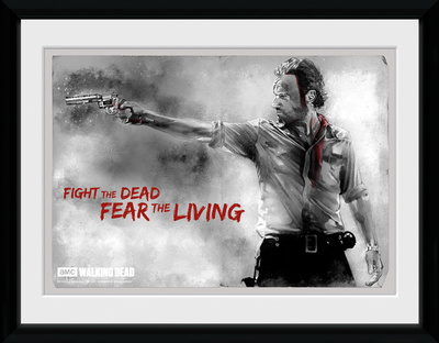 The Walking Dead- Rick Print Collector-tryk