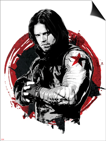 Captain America: Civil War - Winter Soldier (Bucky Barnes) Prints
