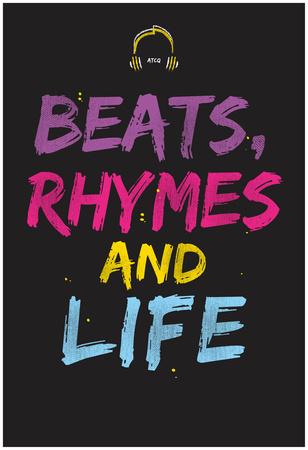 Beats Rhymes And Life Plakát