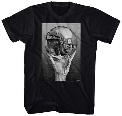 M.C. Escher- Self-Portrait In Spherical Mirror T-Shirt