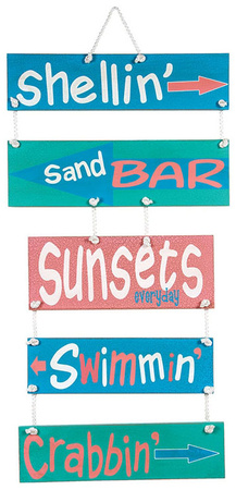 Things To Do Sea Signs Wood Sign