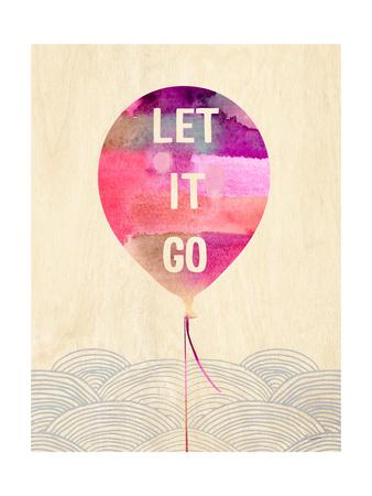 Let it Go Prints by Evangeline Taylor