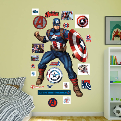 Marvel Avengers Assemble Captain America 2015 RealBig Wall Decal
