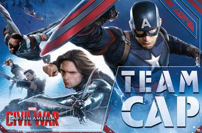 Captain America Civil War- Team Cap In Action Poster