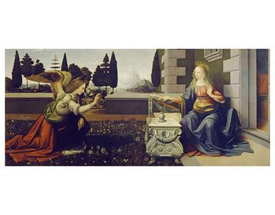 The Annunciation, ca. 1472 Poster by Leonardo Da Vinci
