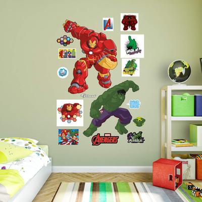 Marvel Avengers Assemble Kids Hulk Vs. Hulkbuster RealBig Wall Decal