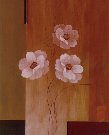 Three White Flowers II Posters by Fernando Leal