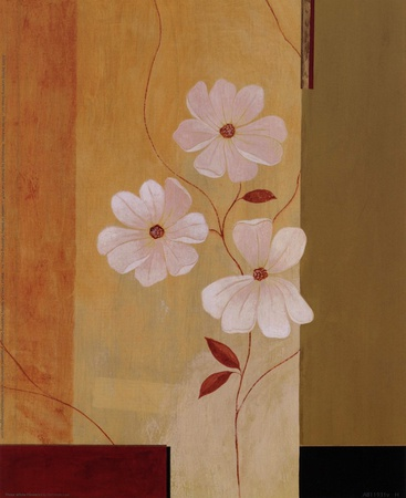 Three White Flowers I Prints by Fernando Leal