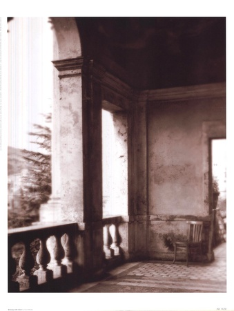 Balcony With Chair Prints by David Westby