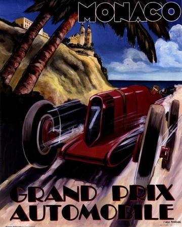 Monaco Grand Prix Posters by Chris Flanagan