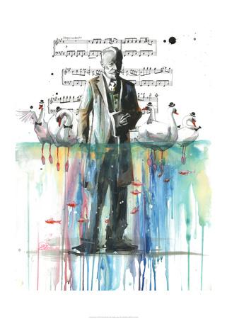 Swan Lake Prints by Lora Zombie