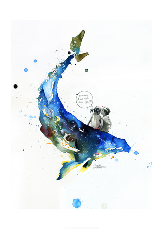 Whale Prints by Lora Zombie