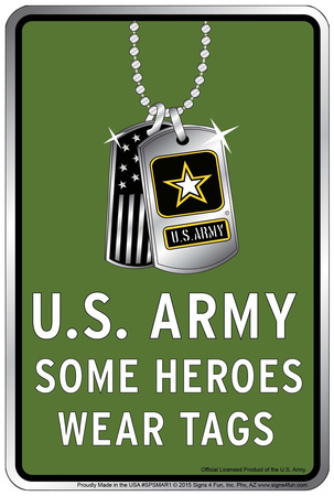Army Tags Tin Sign