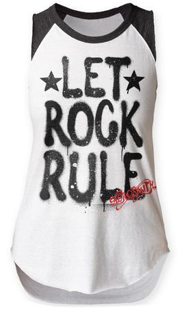 Womens: Aerosmith- Let Rock Rule Raglan Tank Womens Tank Tops