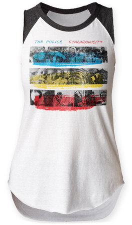 Womens: The Police- Synchronicity Raglan Tank Womens Tank Tops