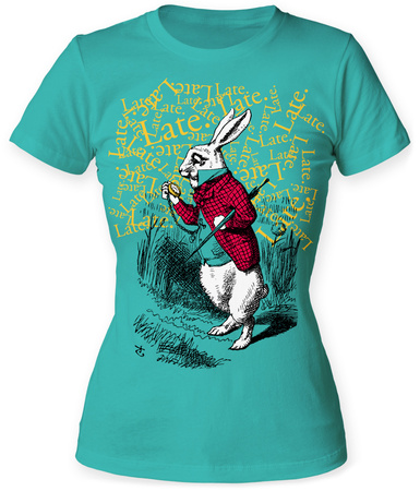 Juniors: Alice In Wonderland- Late. Late. Late. Shirts