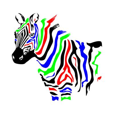 ZEBRA RGB Prints by  Lapis