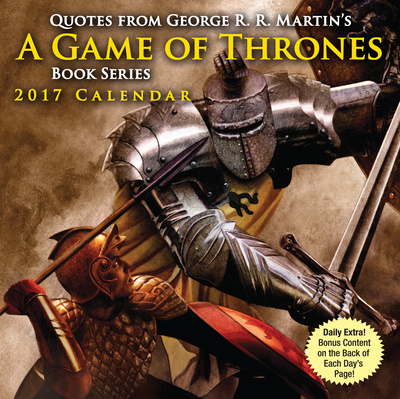 Quotes from George R.R. Martin's A Game of Thrones Book Series - 2017 Boxed Calendar Takvimler