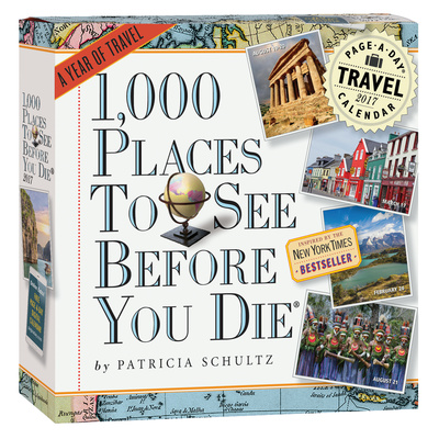 1,000 Places To See Before You Die Color Page-A-Day - 2017 Boxed Calendar Takvimler