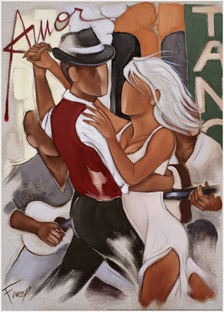 Tango Di Amor Print by Pierre Farel