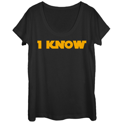 Womans: Star Wars- I Know Scoop Neck T-shirts