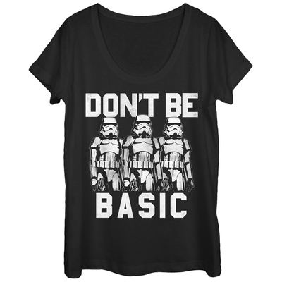Womens: Star Wars- Don't Be Basic Scoop Neck Shirts