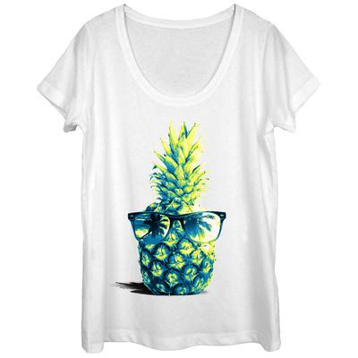 Womens: Chillaxin Pineapple Scoop Neck Shirts