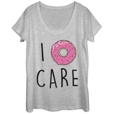Womans: I Donut Care Scoop Neck Shirts
