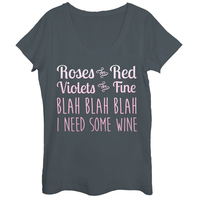 Womens: Need That Wine Scoop Neck Shirts